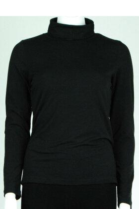 MICHA - T-Shirt med Rullekrave Sort