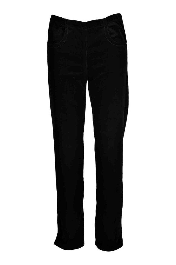 SIGNATURE - Fløjlsbukser m/elastik i talje