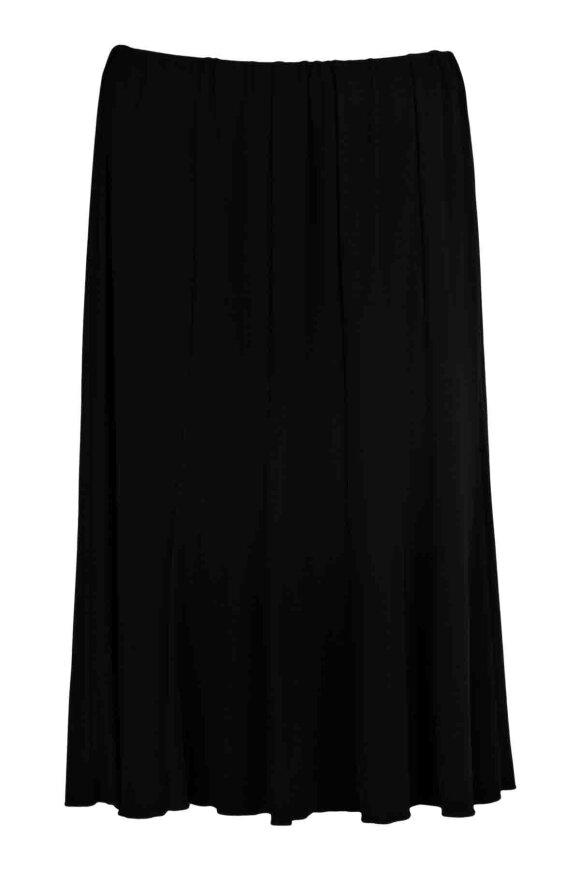 BASSINI - Nederdel med Elastik Sort