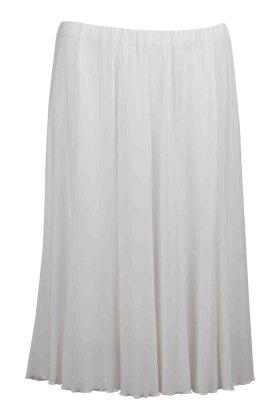 BASSINI - Nederdel med Elastik Offwhite