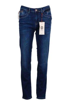 PULZ - Emma Fit Jeans - Highwaist Straight Leg - Denim