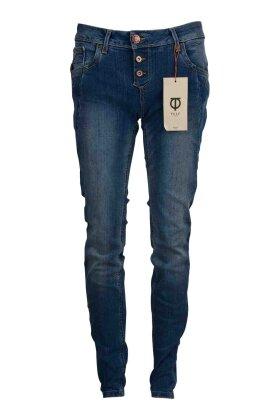 PULZ - Rosa Skinny Jeans Slidt Denim