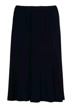 BASSINI - Nederdel med Elastik Mørkeblå