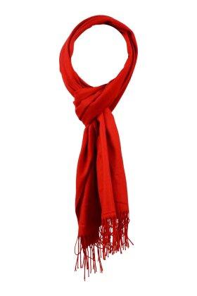 F HOUSE - Tørklæde Pasmina Look Rød