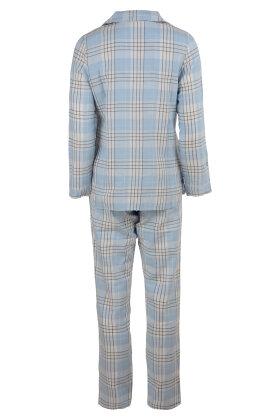 PASTUNETTE - Pyjamas Flonnel Lyseblå