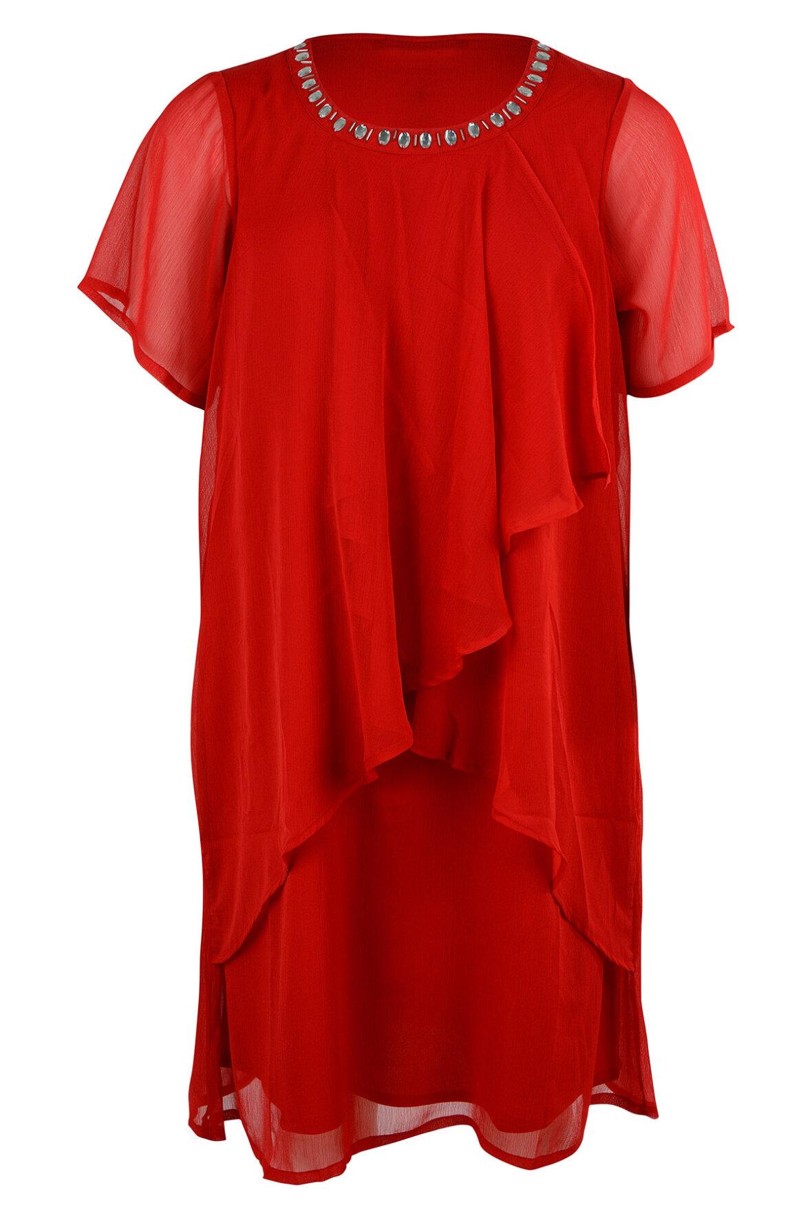 b90a9417 Zhenzi Kobber Kjole smuk dragende insisterende til store str. - Hos ...