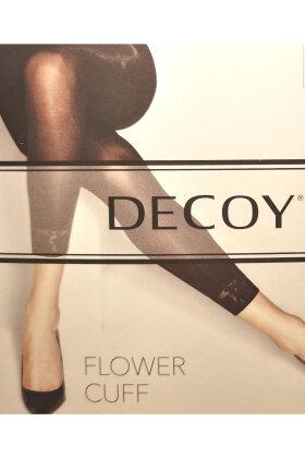 DECOY - Flower Cuff Leggings 60D Offwhite