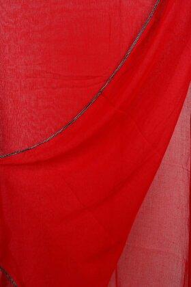 F HOUSE -  Tørklæde Med Sølvkant