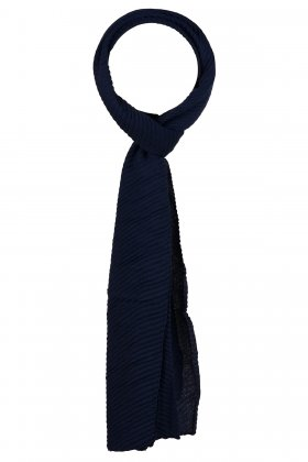 F HOUSE - Marine Plisse Tørklæde