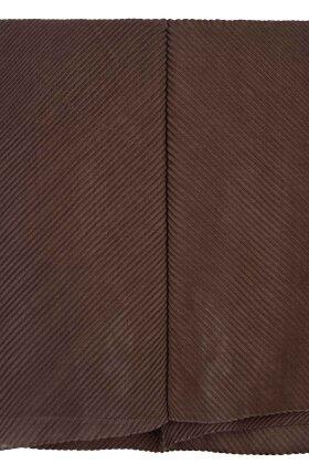 F HOUSE - Mørk Sand Plisse Tørklæde