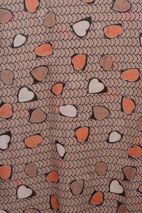 F HOUSE - Hjerteprint Tørklæde