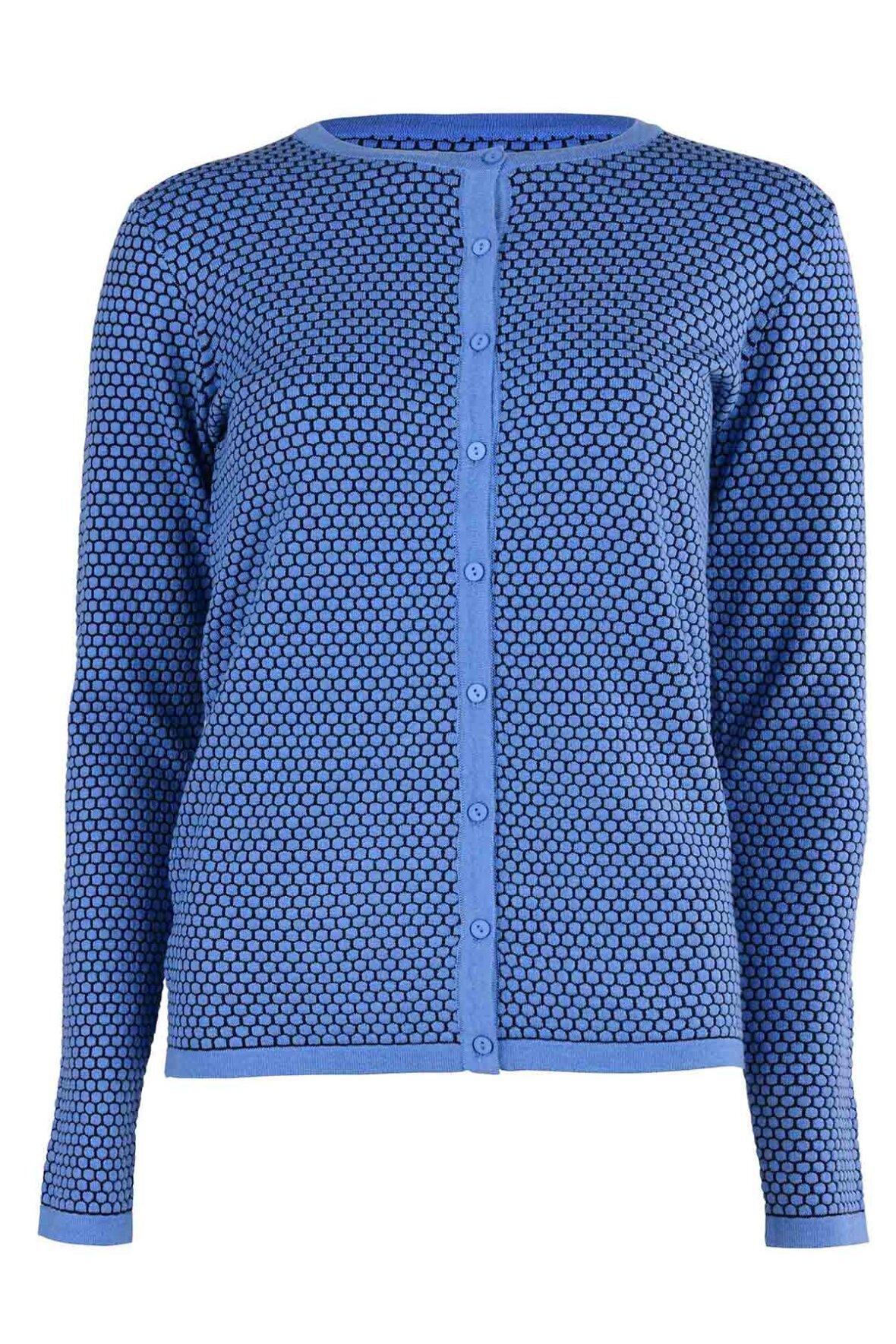 122a43b7 Soya Concept Niaka Knit strikket cardigan i blå - Hos Lohse