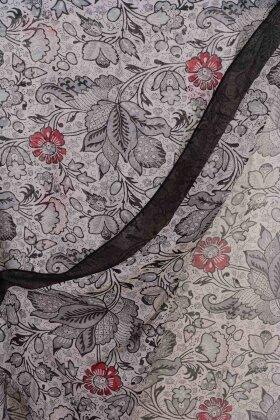 F HOUSE - Blomstret Tørklæde Viskose