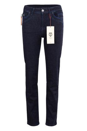 PULZ - Karolina Highwaist Straight Jeans Mørk Denim Uden Slid