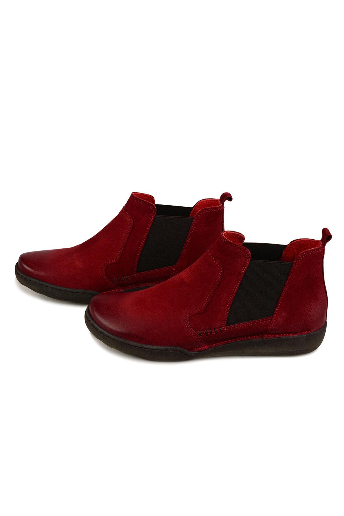 94b465ae Relaxshoe Rød Støvlet i skind super komfortabel - Hos Lohse