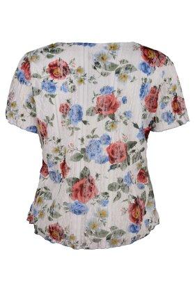 BASSINI - Blonde Bluse Med Print
