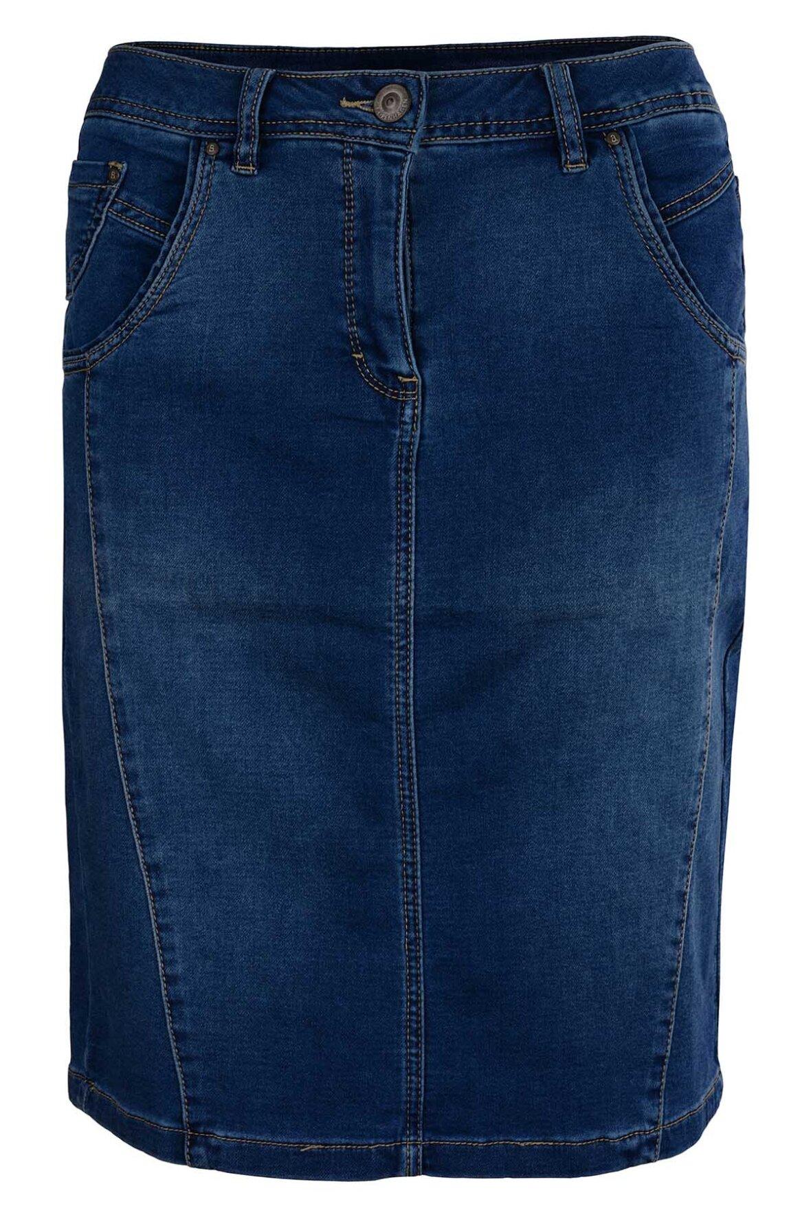 12a37c249 Brandtex Classic Skirt Nederdel i denim - Hos Lohse
