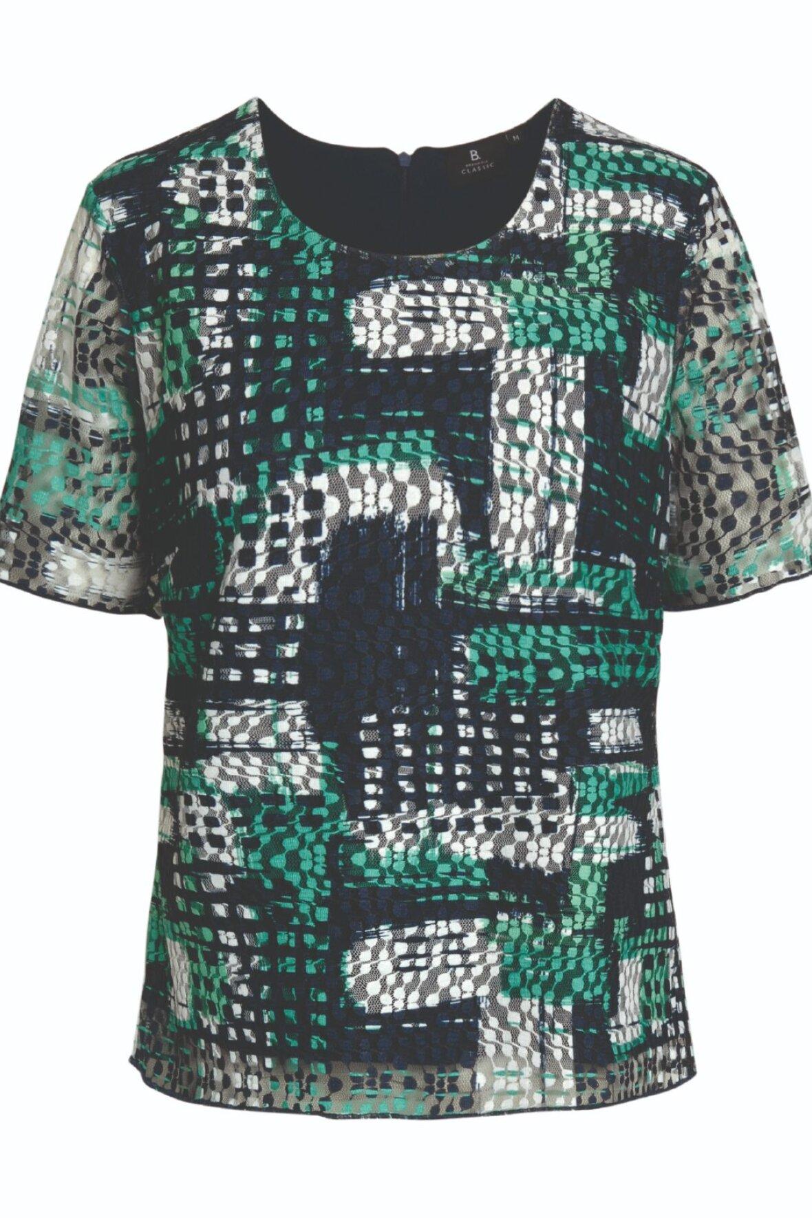 3716a3b5a Brandtex Classic festlig bluse flerfarvet til damer - Hos Lohse