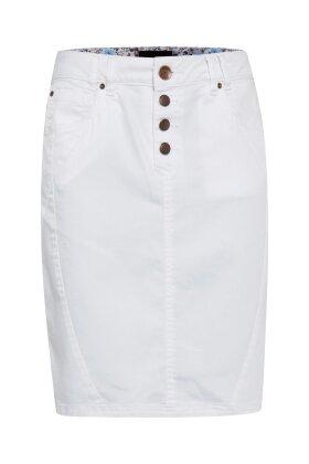 PULZ - Rosita Twill Nederdel Hvid