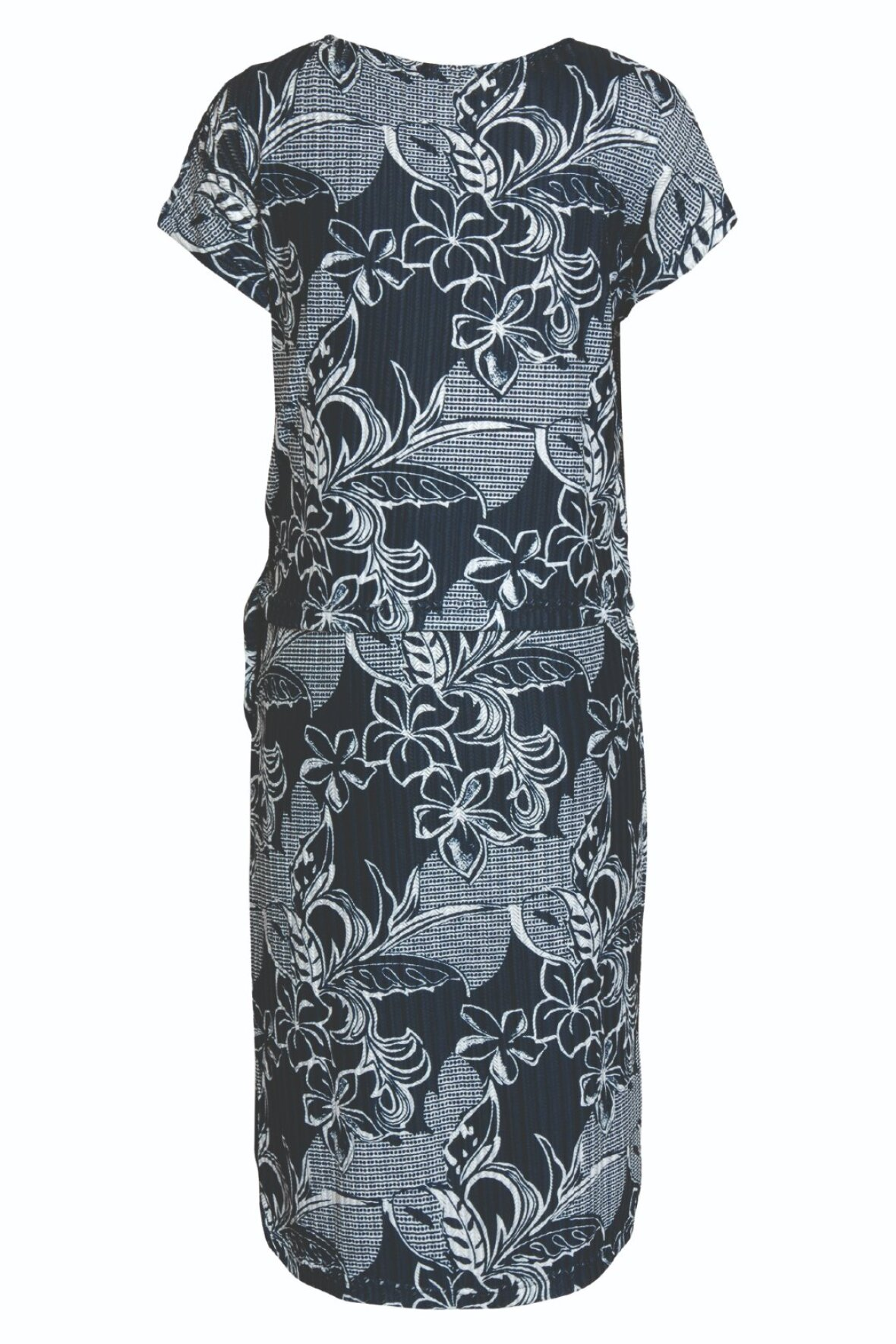 4d6a6974f Brandtex Classic kjole med fast underkjole og bluse i marineblå ...