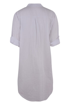 ROUGH & ROSE - Bigshirt Hvid