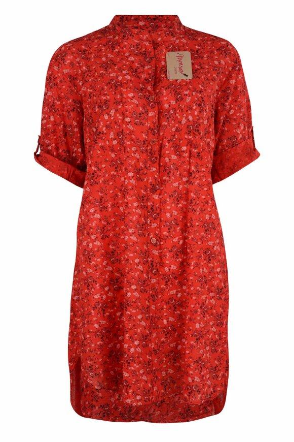 ROUGH & ROSE - Bigshirt Rød