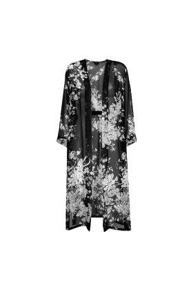 MOLLY-JO - Chiffon Kimono Jakke Sort