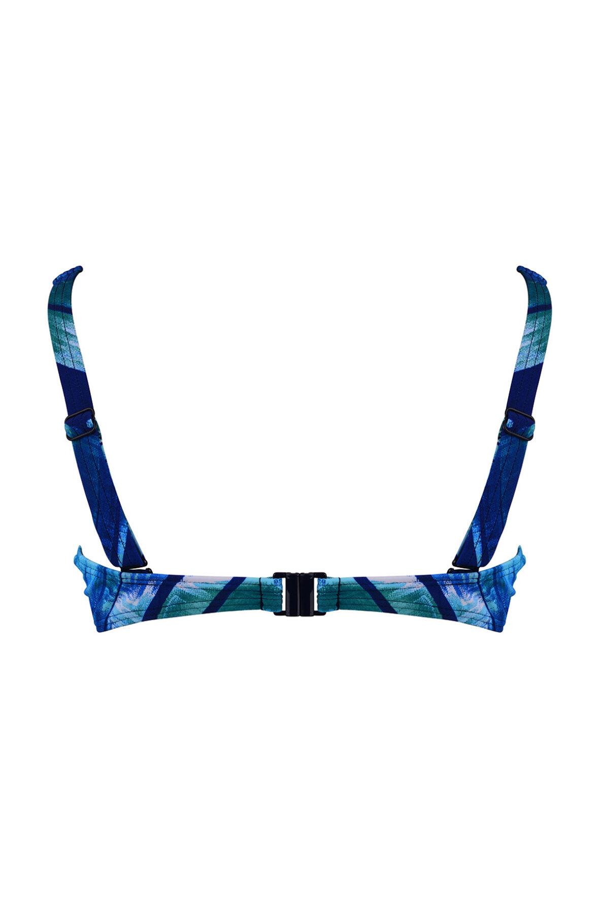 b2079e29 Naturana bikini top overdel i flot blåt og turkis tema - Hos Lohse