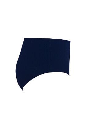 PLAISIR - Relief Maxi Bikini Trusse Mørkeblå