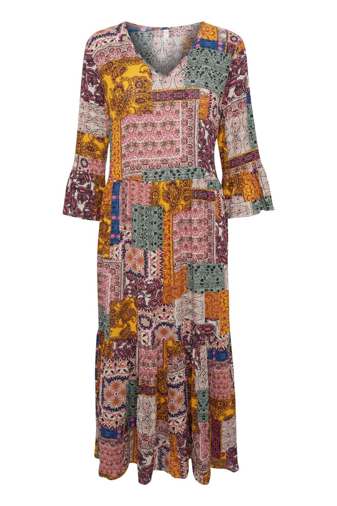 9bb5460179b2 Pulz palma dress multi farvet kjole til sommer - Hos Lohse