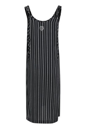 PULZ - Nelly Long Dress Black Stripe