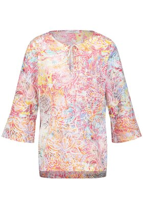 GERRY WEBER - Bluse med Print og Trompet Ærmer