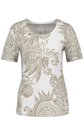 GERRY WEBER - T-shirt med Khaki Pint
