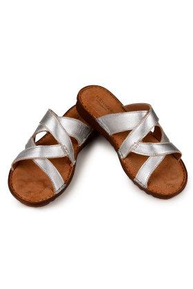 RELAXSHOE - Sølv Sandal i Skind