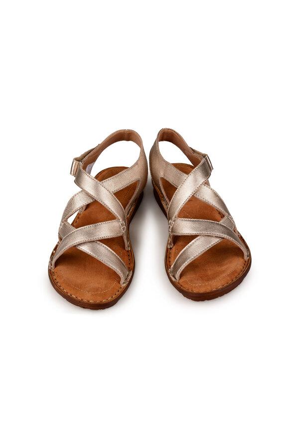 RELAXSHOE - Guld Sandal med Hælrem