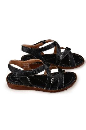 RELAXSHOE - Sort Sandal med Hælrem