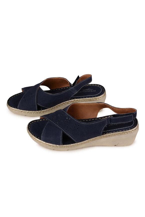 RELAXSHOE - Sandal med Hæl Blå