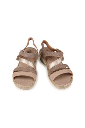 RELAXSHOE - Sandal med Hæl Sand/Beige