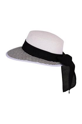 F HOUSE - Hvid Fint Flettet Hat