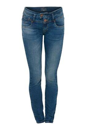 PULZ - Anett Midtwaist Skinny Jeans Denim