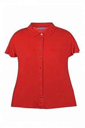ZHENZI - Deniro 838 Skjorte T-shirt Rustfarvet