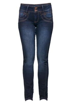 PULZ - Stacia Jeans Curved Skinny Jeans Mørk Denim