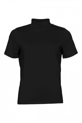 MICHA - Turtleneck T-shirt Basis Sort