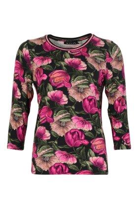 MICHA - Blomstret T-shirt Lilla