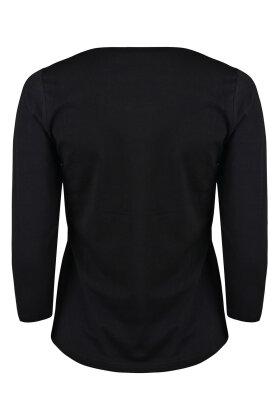 MICHA - Basis T-shirt 3/4 Ærme Sort