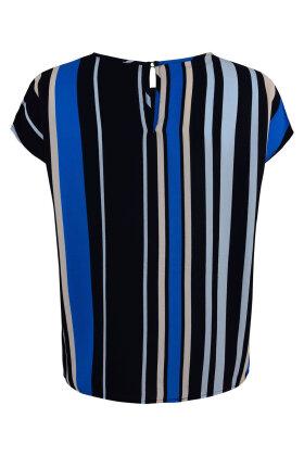 SOYACONCEPT - Solea Bluse Stribet Mørkeblå