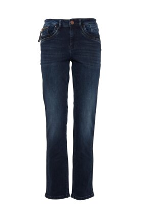 PULZ - Karolina Highwaist Straight Jeans Mørk Denim