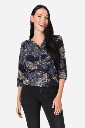 SOYACONCEPT - Felicity T-shirt Mørkeblå
