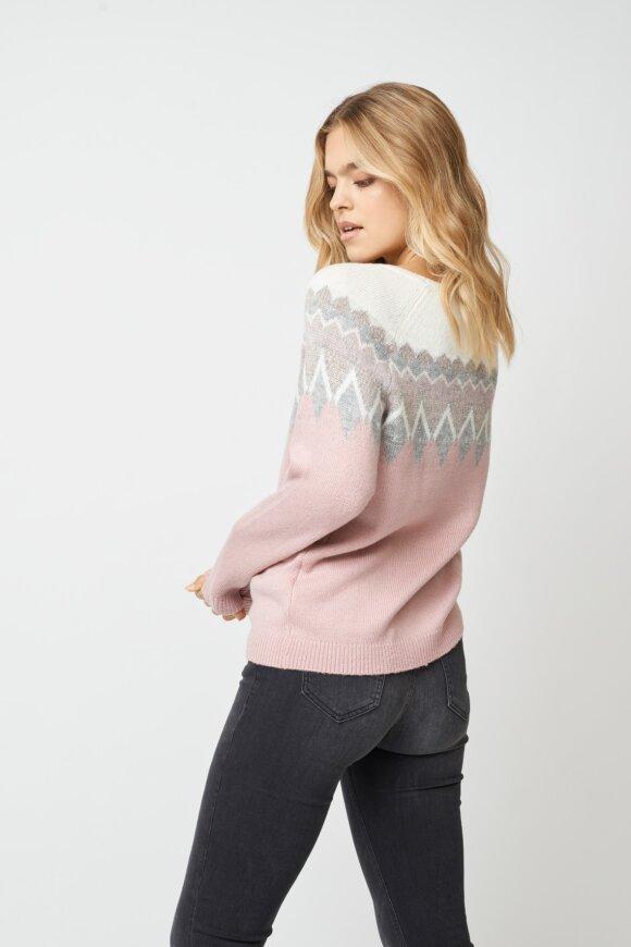 SOYACONCEPT - Celika Strikket Pullover Rosa