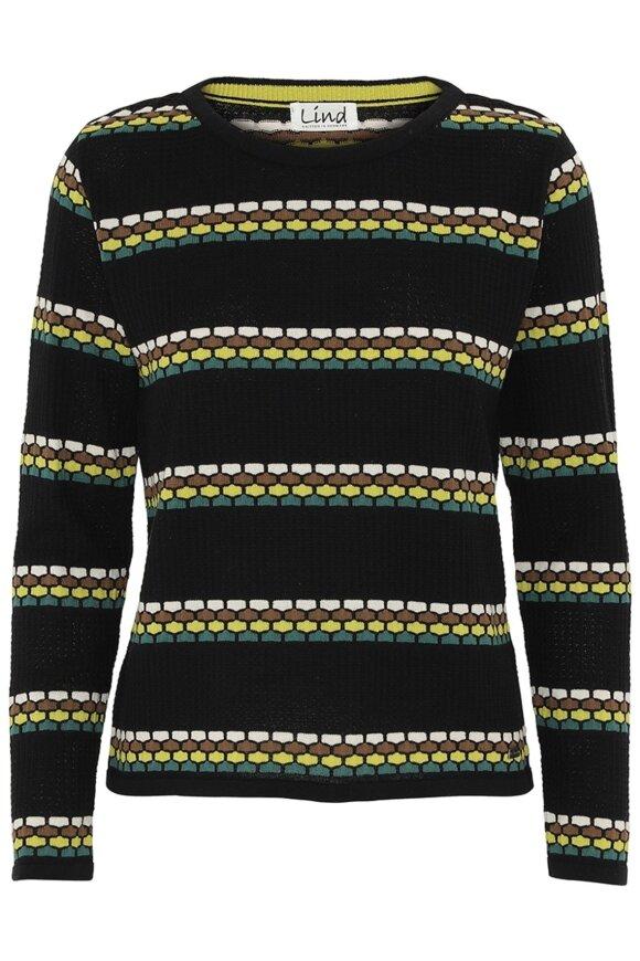 LIND - Berta Strikket Pullover Sort
